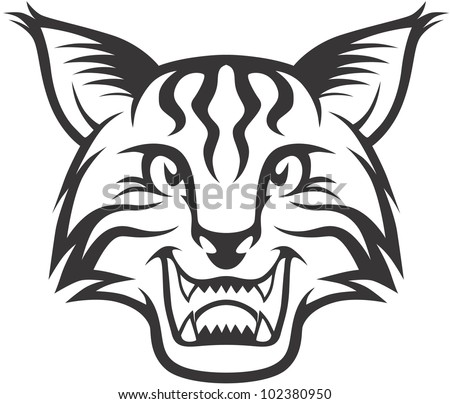Wild Lynx Illustration - stock vector