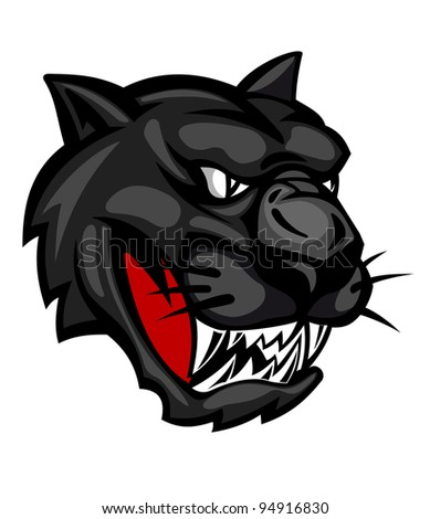 Wild panther head isolated on white background for mascot design. Jpeg version also available in gallery - stock vector