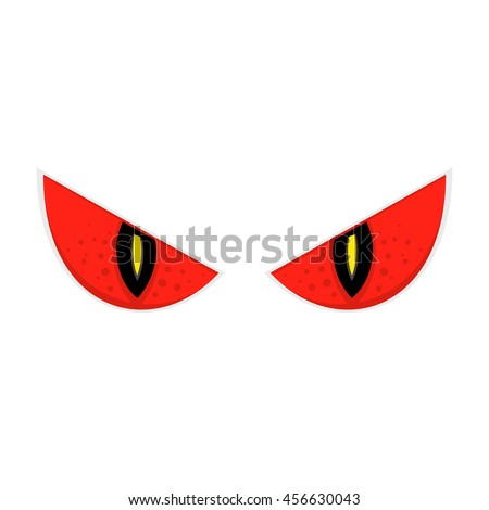 wild scary eyes isolated vector illustration stock vector 456630043 rh shutterstock com scary eyes animated gif drawing scary cartoon eyes
