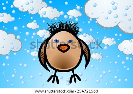 Wild Sparrow - stock vector