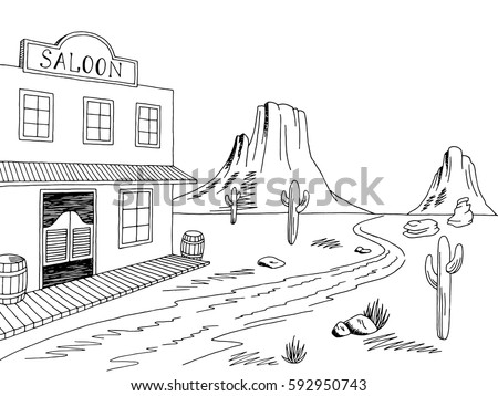 Prairie building stock images royalty free images - Dessin saloon ...