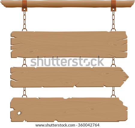 Wild West hanging signs - stock vector