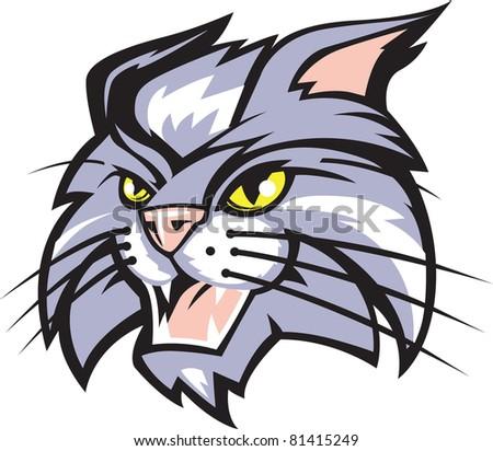 cartoon wildcat stock images  royalty free images free wildcat clipart blue Wildcat Logo