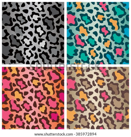 Wildcat spots pattern in four colorways repeats seamlessly.