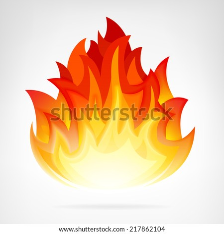 wildfire flame isolated vector element illustration - stock vector