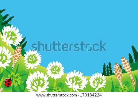 Wildflowers in Spring Meadow - stock vector