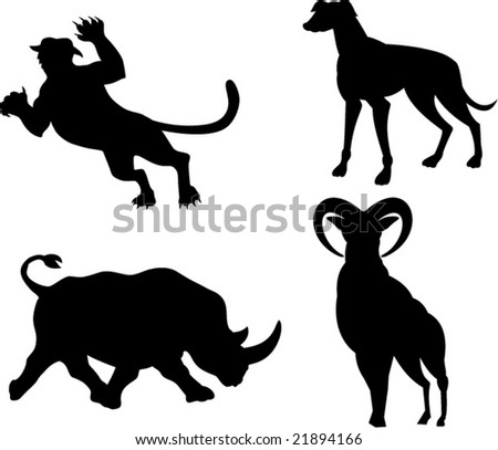 Wildlife silhouette - stock vector