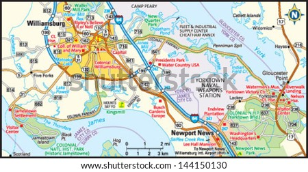 Williamsburg Virginia Stock Images RoyaltyFree Images Vectors - Map of us wiliamburg virginia