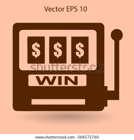 win at slot machine vector illustration