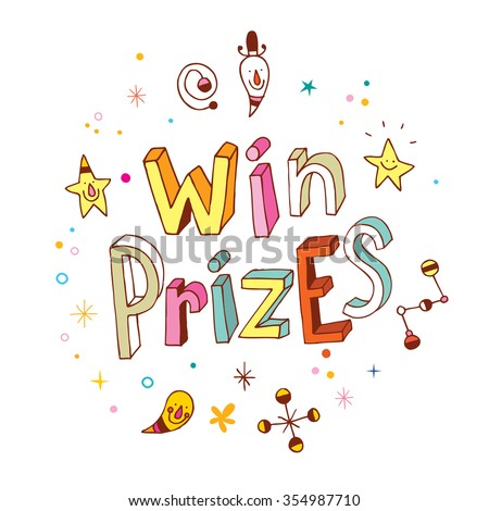 win prizes - stock vector
