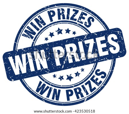 win prizes blue grunge round vintage rubber stamp.win prizes stamp.win prizes round stamp.win prizes grunge stamp.win prizes.win prizes vintage stamp. - stock vector