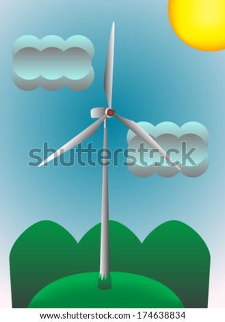 Wind energy illustration - stock vector