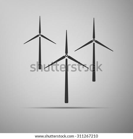 Wind generator icon. Vector illustration - stock vector