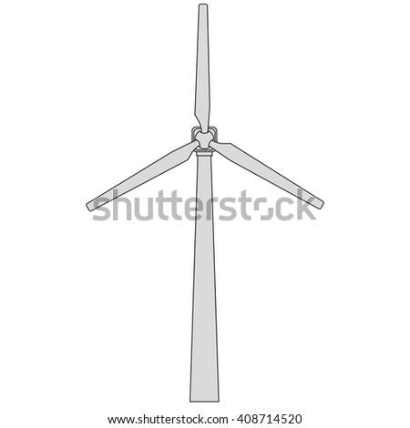 Wind generator. Vector EPS10 - stock vector