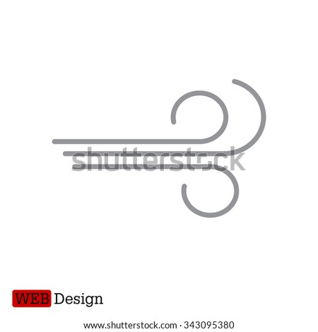 Wind icon vector - stock vector