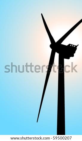 wind mill 5 - stock vector