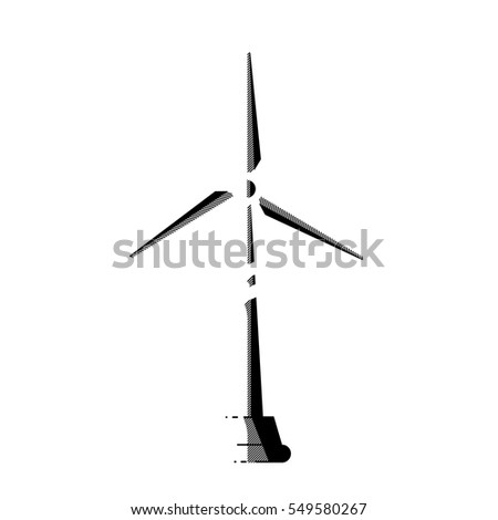 Wind Mill, Energy Turbine Icon. Vector, Illustration