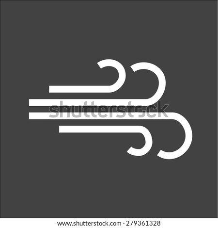 Wind, nature, energy icon vector image. Can also be used for energy and technology. Suitable for web apps, mobile apps and print media. - stock vector