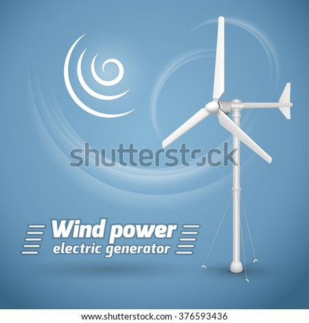 Wind power electric tower generator on stock vector 376593436 wind power electric tower generator on blue background wind powered electrical generator voltagebd Image collections