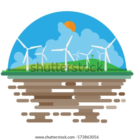Wind power generator farm flat scene stock vector 573863056 wind power generator farm flat scene background template voltagebd Image collections