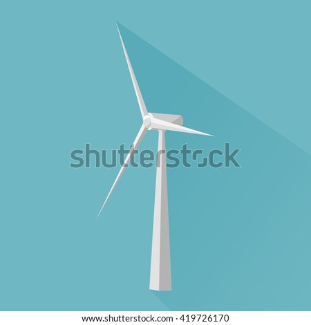 Wind power plant icon