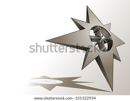 Wind rose  - vector background - stock vector
