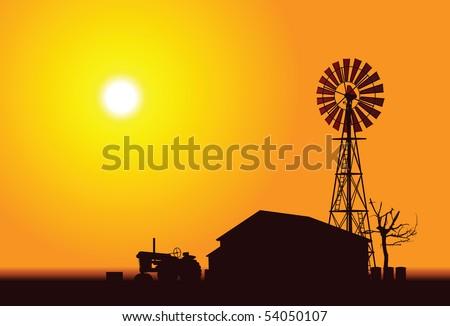 Wind Turbine - stock vector