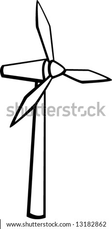 wind turbine renewable energy stock vector 13182862