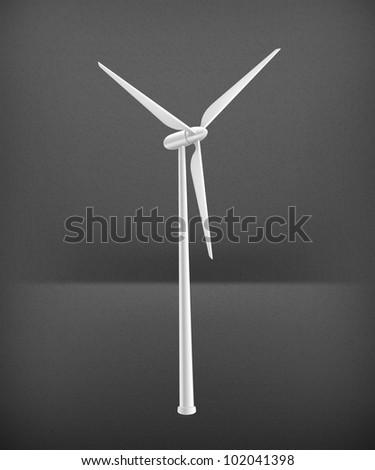 Wind Turbine, vector - stock vector