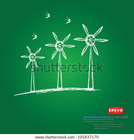 Wind turbine,Vector