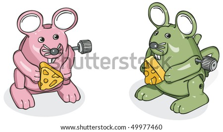 Wind-Up Mice 1 - stock vector