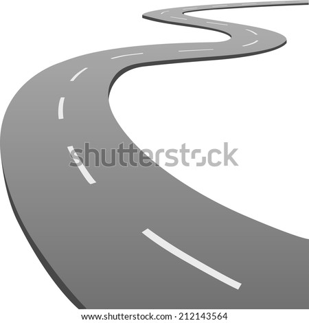 Winding road. Vector  - stock vector