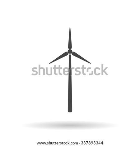 Windmill. Icon Vector - stock vector