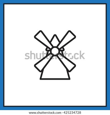 Windmill icon. Windmill icon Vector. Windmill icon Art. Windmill icon eps. Windmill icon Image. Windmill icon logo.Windmill icon Sign. Windmill icon Flat. Windmill icon design.Windmill icon app. - stock vector