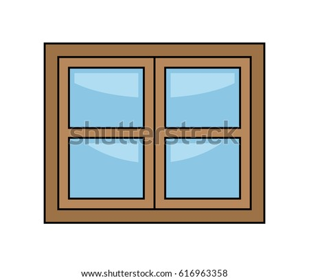 four classical types arched windows brick stock vector