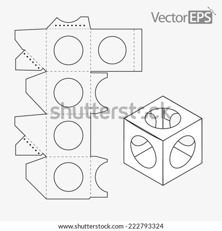 Window display box on the ball - stock vector