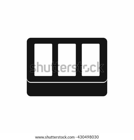 Window frame icon - stock vector