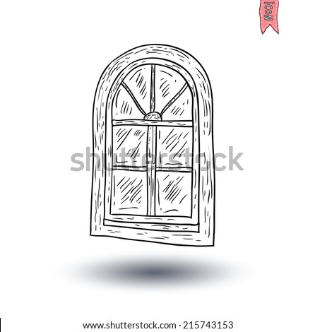 Window icon. Vector illustration.