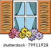 window line - stock vector