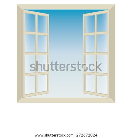 windows - stock vector