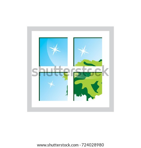 window cleaning logos stock images