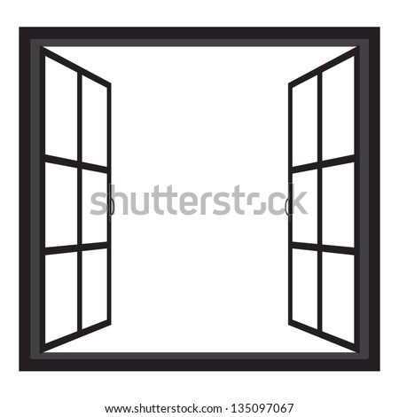windows wide open window silhouette vector