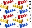 windsock pattern, abstract seamless texture; vector art illustration - stock photo