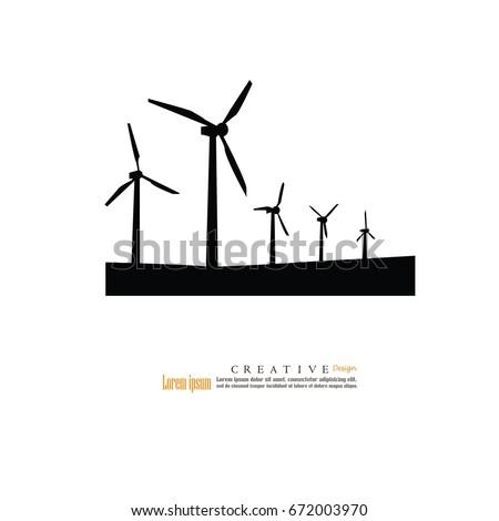 Windturbine Iconvector Illustration Stock Vector 672003970 ...
