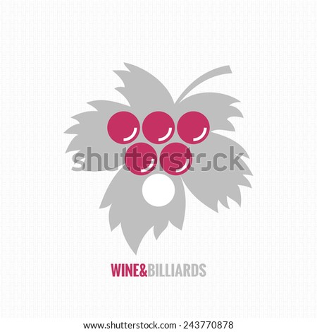 wine and billiards concept design background - stock vector