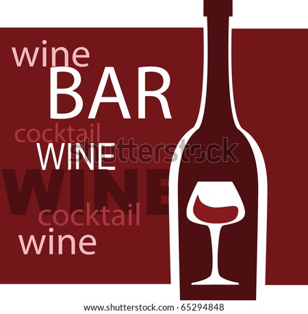 Wine Glass Vector Design Template Bar Stock Vector 65294848