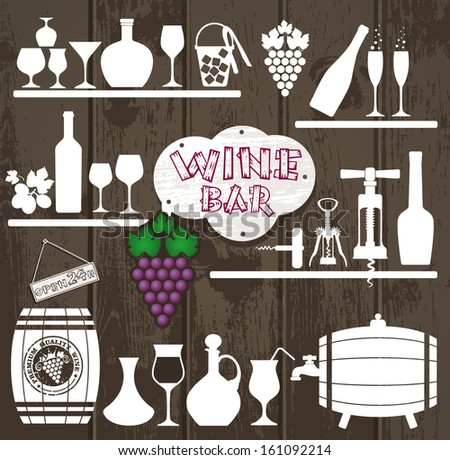 Wine background. - stock vector
