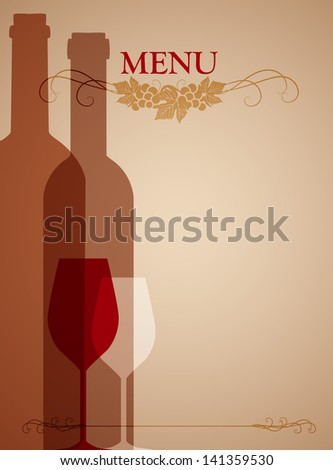 wine background for web or print - stock vector