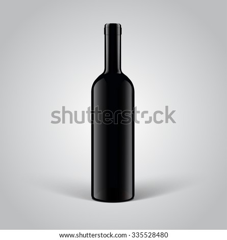 Wine bottle, mockup blank Product Packing - stock vector