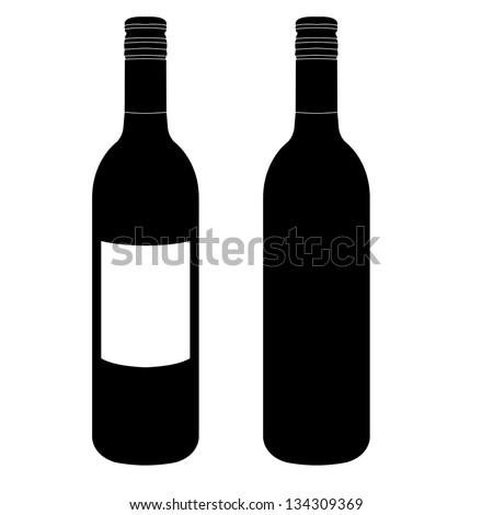 wine bottle vector stock vector 134309369 shutterstock rh shutterstock com wine bottle vector free download wine bottle vector silhouette
